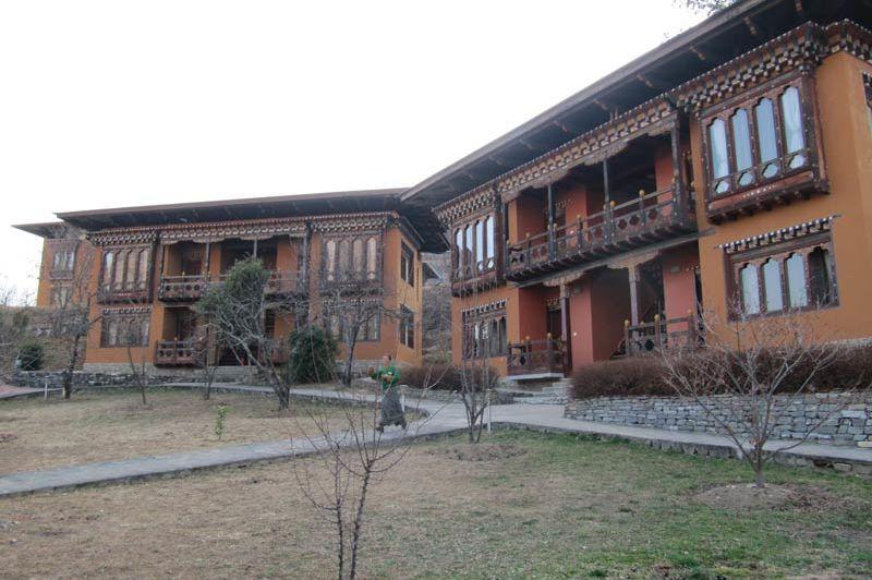 kamers van het Tashi Namgay Resort - Tashi Namgay Resort - Bhutan - foto: Mieke Arendsen
