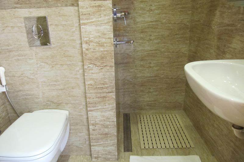 badkamer van Hotel Bhutan - Hotel Bhutan - Bhutan - foto: Mieke Arendsen