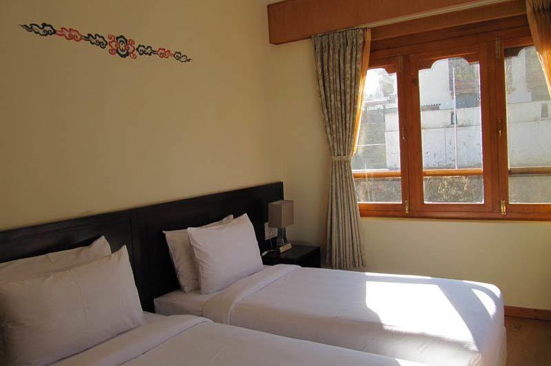 kamer van Hotel Bhutan - Hotel Bhutan - Bhutan - foto: Mieke Arendsen