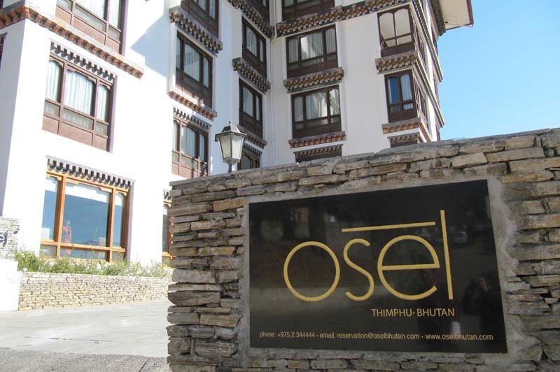 gevel van het Osel Hotel - Osel Hotel - Bhutan