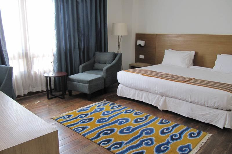 kamer van het Osel Hotel - Osel Hotel - Bhutan - foto: Mieke Arendsen