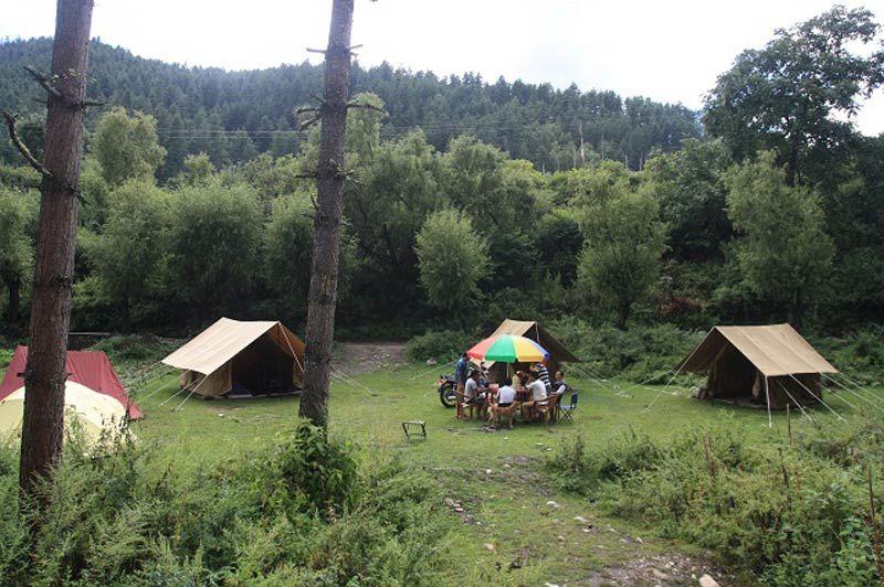 kamperen: deluxe camp - Bhutan - foto: lokale agent