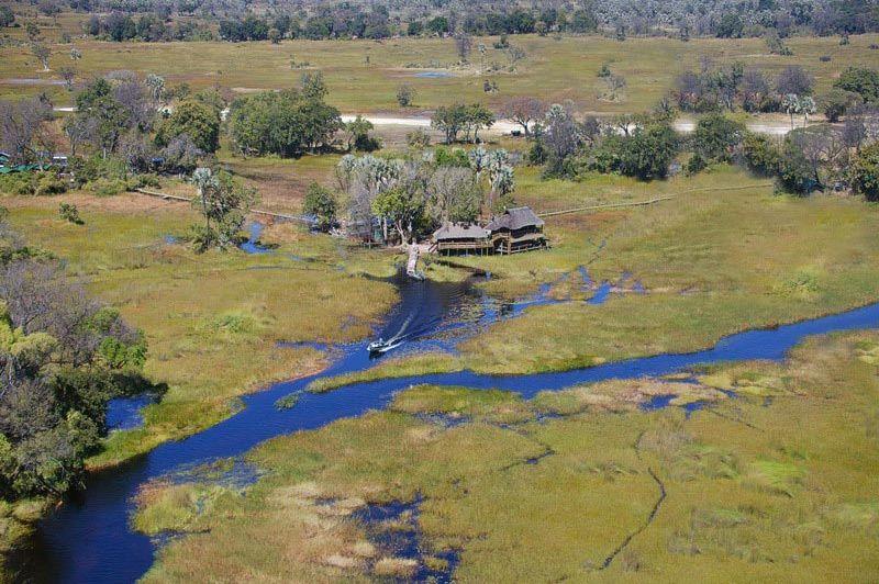 Gunns Camp - bovenaanzicht - Gunns Camp - Botswana
