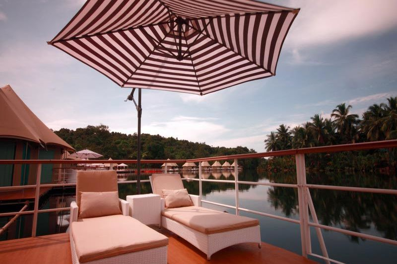 uitzicht - 4 rivers floating lodge - Tatai - Cambodja