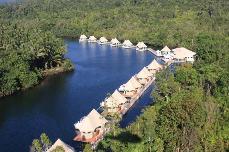 vooraanzicht - 4 rivers floating lodge - Tatai - Cambodja