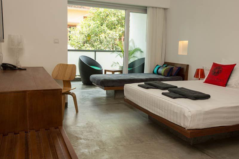 slaapkamer met balkon - Rambutan Resort - Cambodja