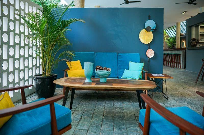 lobby blauwe stijl - Rambutan Resort - Cambodja