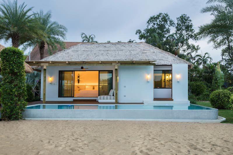 wit huisje met zwembad luxe - Royal Sands - Cambodja