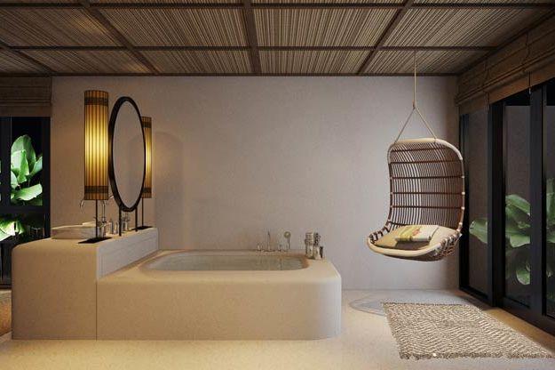 badkamer met groot bad - Royal Sands - Cambodja