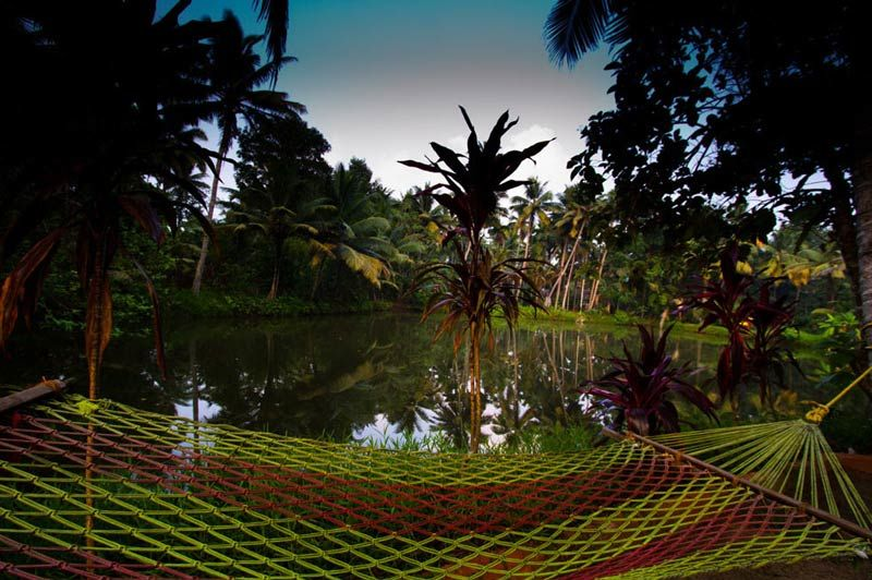 Emerald Isle Homestay in de Backwaters hangmat - India - foto: Emerald Isle