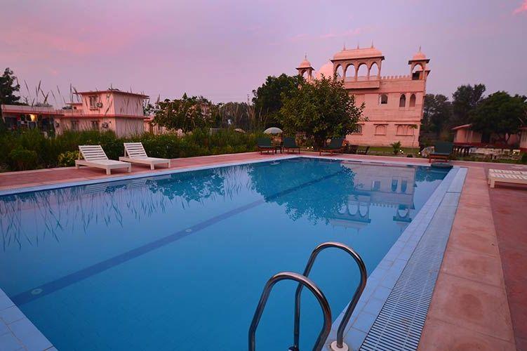 zwembad van Sher Garh in Ranthambore - Sher Garh - India - foto: archief