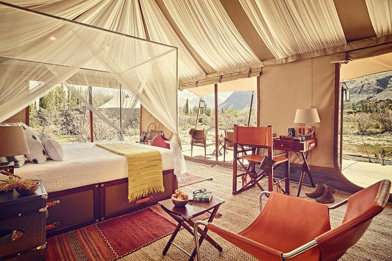 interieur tent Chamba Camp - Diskit Ladakh - Chamba Camp - India - foto: Chamba Camp