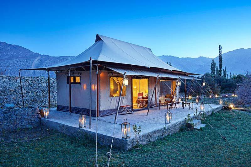 luxe tent Chamba Camp - Diskit Ladakh - Chamba Camp - India - foto: Chamba Camp