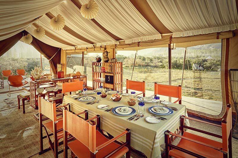 dining tent Chamba Camp - Diskit Ladakh - Chamba Camp - India - foto: Chamba Camp