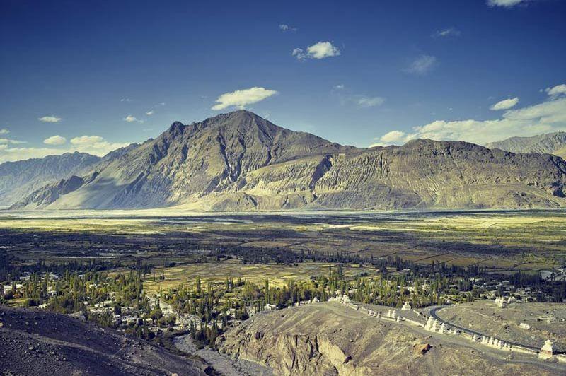 zicht op Hunder Chamba Camp - Diskit Ladakh - Chamba Camp - India - foto: Chamba Camp