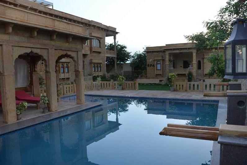 zwembad The Gulaal - Jaisalmer - The Gulaal - India - foto: The Gulaal