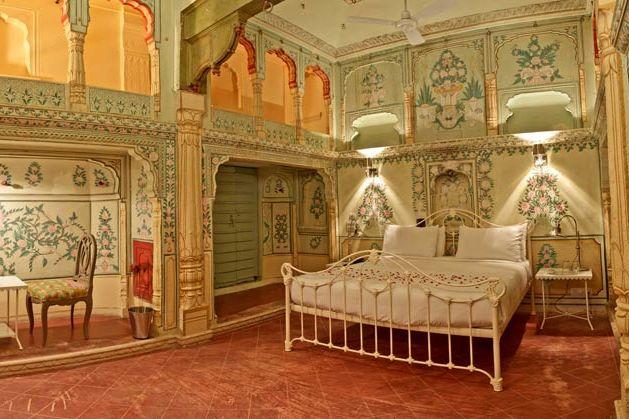 slaapkamer Vivaana Culture Hotel - Mandawa - Vivaana Culture Hotel - India - foto: Vivaana Culture Hotel