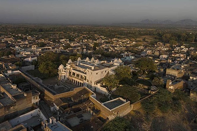bovenaanzicht van kasteel Bera - Bera - India - foto: Castle Bera