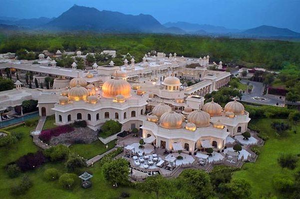 luchtfoto van Oberoi Udaivilas - Oberoi Udaivilas - India - foto: Oberoi Udaivilas