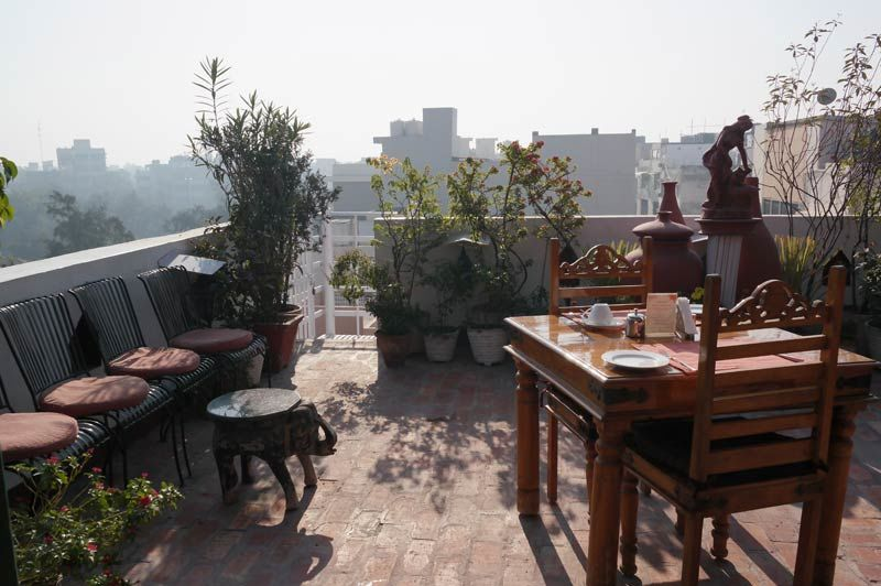 dakterras restaurant - Shanti Home - India - foto: Mieke Arendsen