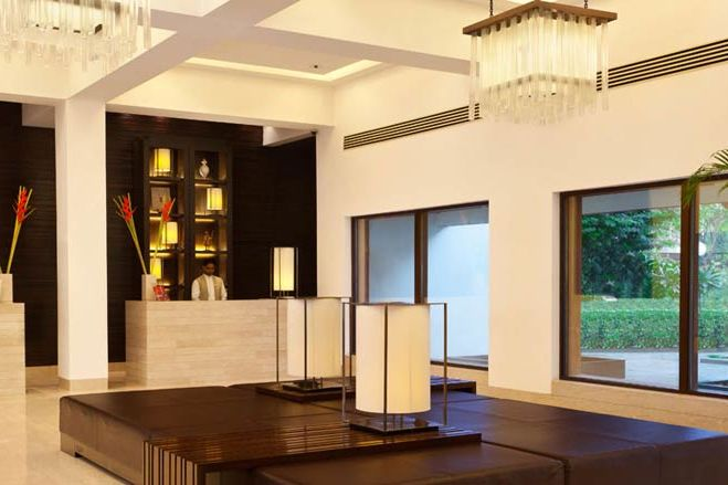 moderne lobby - Trident Agra - India - foto: Trident Agra