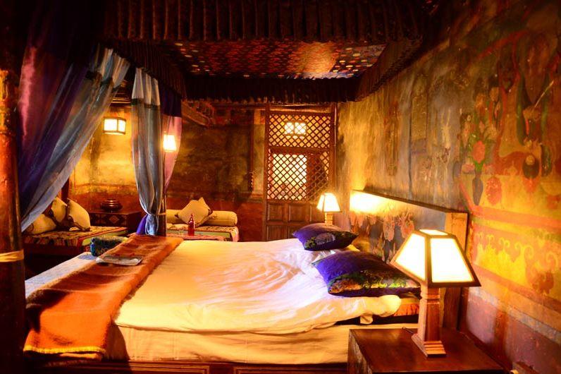 slaapkamer van Stok Palace in Leh - Stok Palace - India - foto: Ashfaq Rah