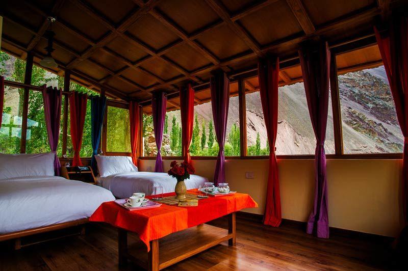 slaapkamer van het Ule Ethnic Resort in Uleytokpo - Ule Ethnic Resort - India - foto: Ule Ethnic Resort