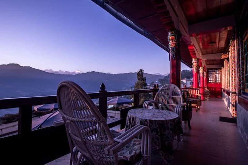 uitzicht vanaf Netuk House in Gangtok - Netuk House - India - foto: Netuk House
