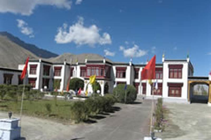 Hotel Skittsal vooraanzicht in Ladakh - Ladakh - India - foto: hotel Skittsal
