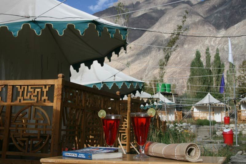Nubra Ethnic Camp in de Nubravallei - Nubra Ethnic Camp - India - foto: Nubra Ethnic camp