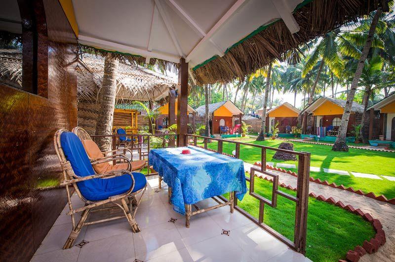 Agonda Om Sai Beach Huts gardenview - Goa-Agonda - India - foto: Agonda Om Sai Beach Huts