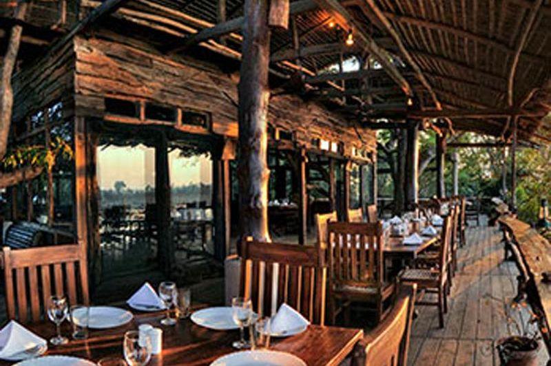 Ken River Lodge restaurant - Panna - India - foto: Ken River Lodge