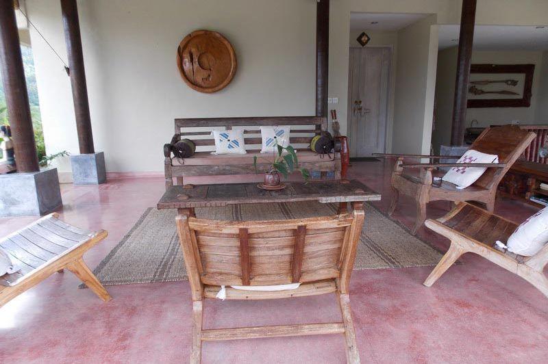 lounge gedeelte - Surya Shanti Villa Sidemen - Surya Shanti Villa Sidemen - Indonesië