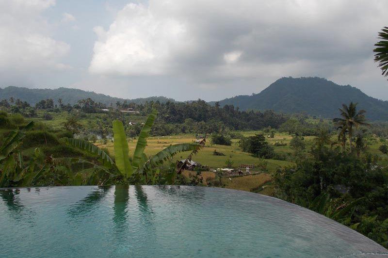 zwembad met uitzicht - Surya Shanti Villa Sidemen - Surya Shanti Villa Sidemen - Indonesië