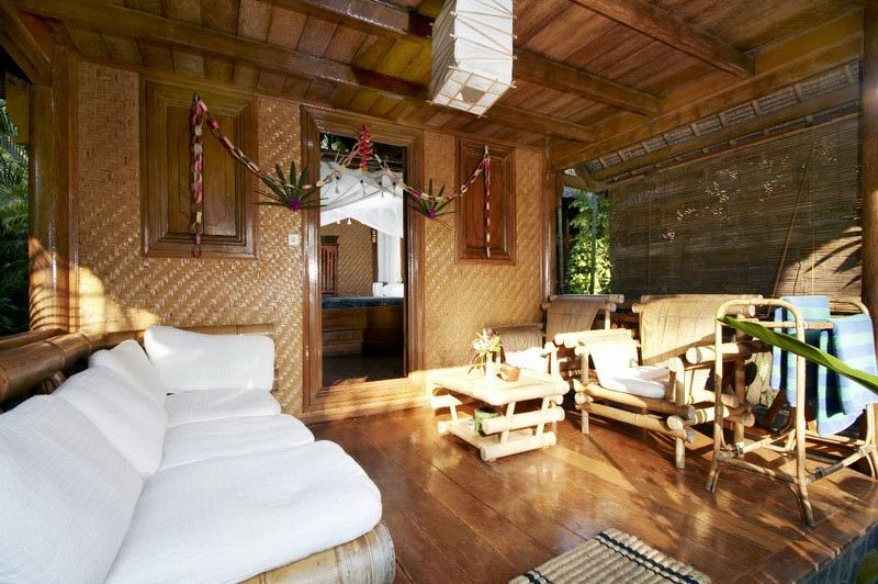 terras bij kamer Santai Bali Amed - Santai Bali Amed - Indonesië