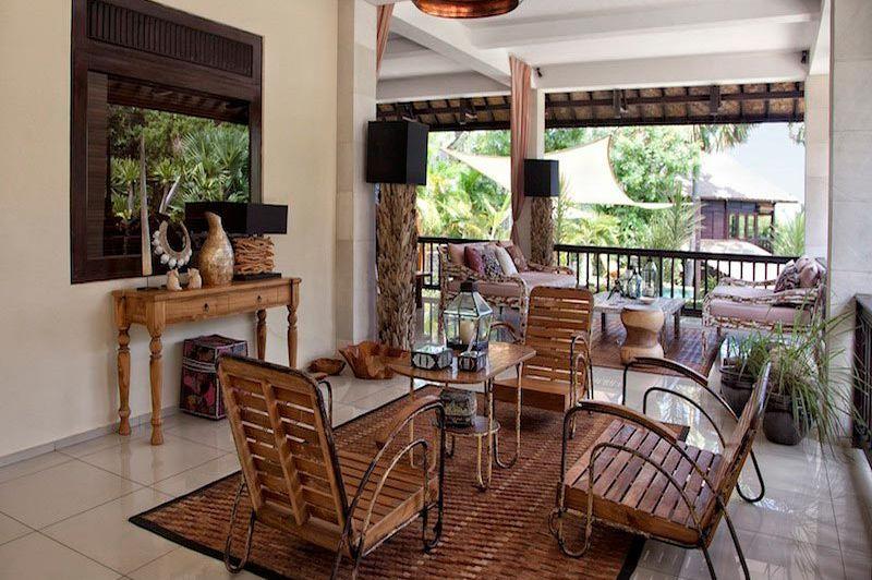 Villa Flow Downstairs Terrace 2 - Villa Flow - Indonesië - foto: Villa Flow