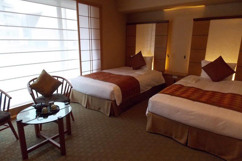 kamer in Hotel Niwa in Tokyo - Hotel Niwa Tokyo - Japan - foto: Floor Ebbers