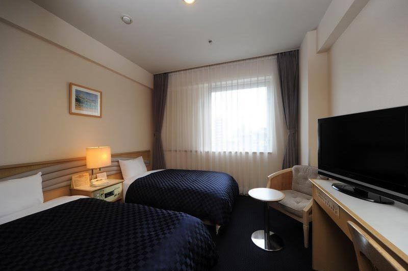 twin room in Hotel New Hiroden in Hiroshima - Hotel New Hiroden Hiroshima - Japan