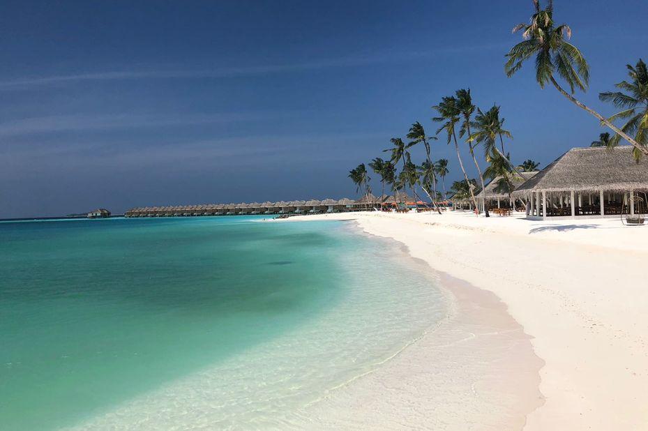klantfoto van luxe reis op de Malediven