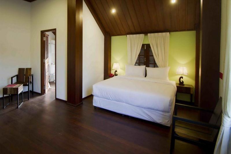 Sanctuary Hotel kamer - Laos - foto: Tim Berentsen