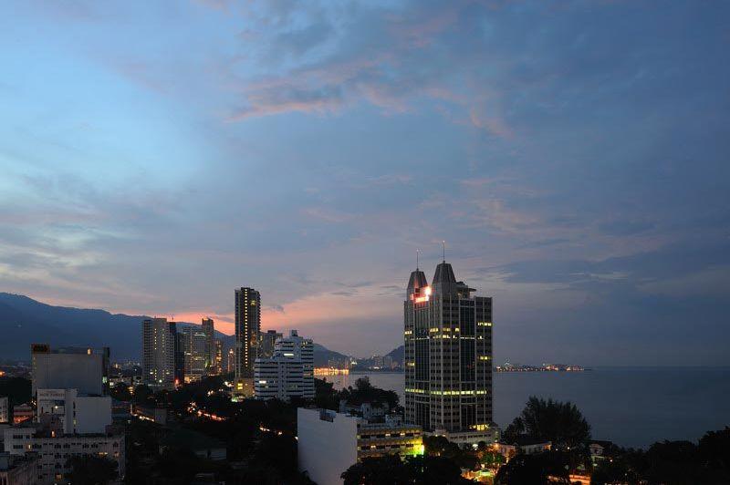 uitzicht - Cititel Penang - Penang Georgetown - Maleisië