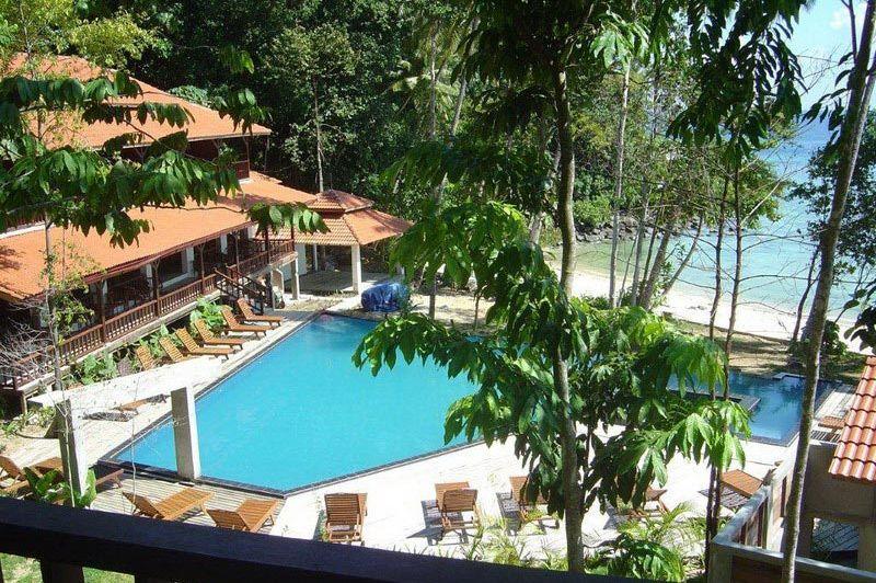 bovenaanzicht zwembad - D'Çocunut Lagoon - Lang Tengah - Maleisië