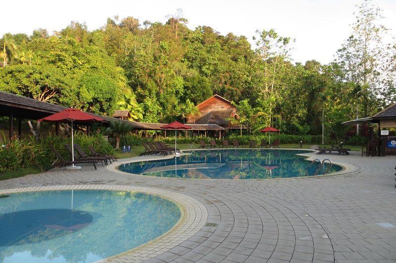 zwembad bij Hilton Batang Ai - Batang Ai Longhouse Resort Hilton - Maleisië