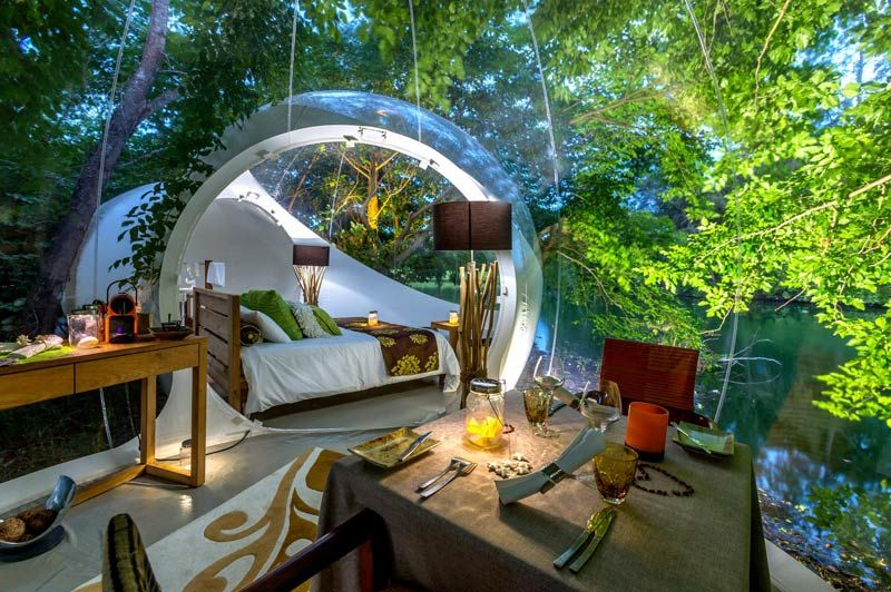 The Bubble Lodge, slaapkamer - Mauritius - foto: The Bubble Lodge
