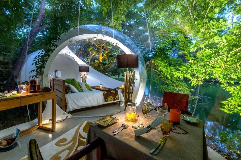 The Bubble Lodge, slaapkamer (2) - The Bubble Lodge - Mauritius - foto: The Bubble Lodge