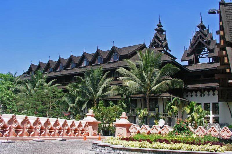 vooraanzicht Kandawgyi Palace Hotel - Kandawgyi Palace Hotel - Myanmar
