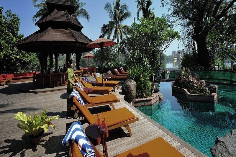 zwembad Kandawgyi Palace Hotel - Kandawgyi Palace Hotel - Myanmar
