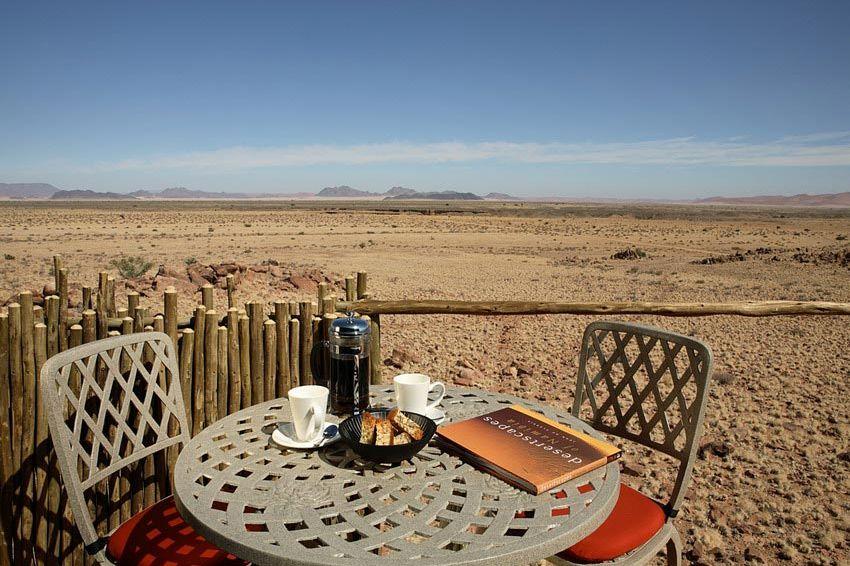 uitzicht vanuit kamer - Sossus Dune Lodge - Sossusvlei - Namibië