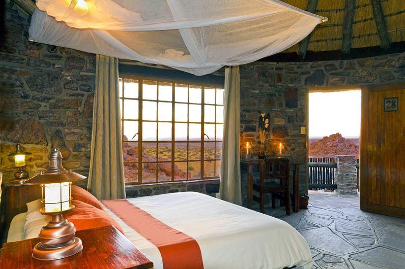 slaapkamer van Canyon Lodge - Canyon Lodge - Namibië - foto: Canyon Lodge