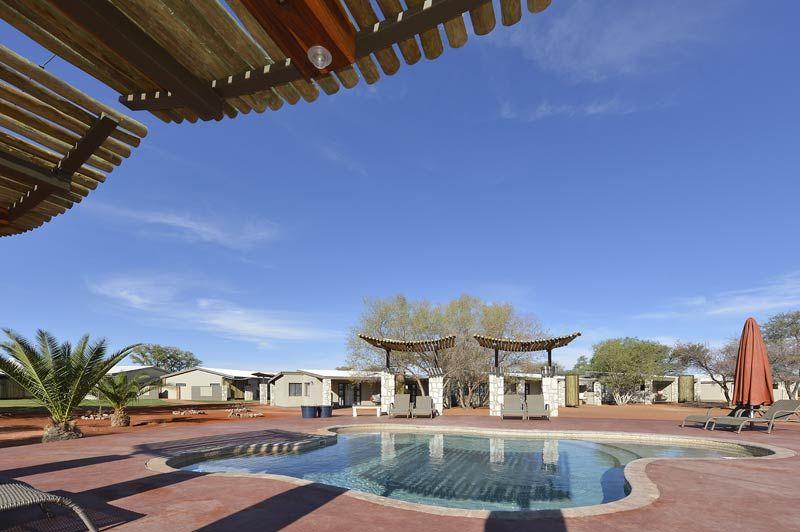 voorgevel van Kalahari Anib Lodge - Kalahari Anib Lodge - Namibië - foto: Kalahari Anib Lodge